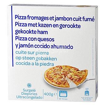 Carrefour Pizza de jamón y queso 400 g