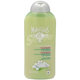 Le Petit Marseillais Champú arcilla blanca/jazmín cabello graso bote 300 ml Bote 300 ml