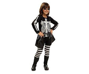 MY OTHER ME Disfraz infantil Niña Skeleto, talla 3-4 años Esqueleto niña 3-4 años