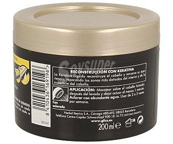 Gliss Mascarilla reparadora Ultimate Repair con triple keratina líquida Hair Repair tarro 200 ml para cabello muy seco y dañado Tarro 200 ml
