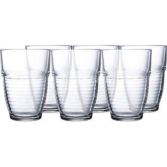LUMINARC  Vasos de vidrio set   6 unidades