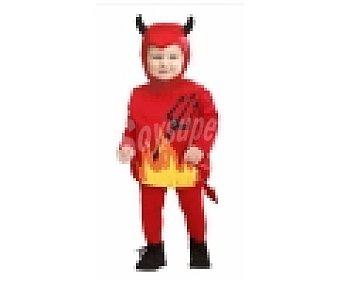 WIDMANN Disfraz para bebé de 1 a 3 años Pequeño Diablo, Halloween 1 unidad