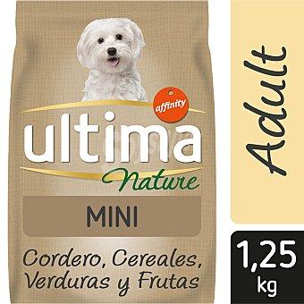 Ultima Affinity Nature alimento para perros mini con cordero Bolsa 1.25 kg
