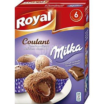 Royal Preparado para hacer Coulant con chocolate Milka 6 raciones Caja 195 g
