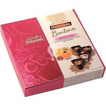 Bombones de chocolate con fruta
