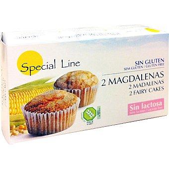 Special Line Magdalenas sin gluten y sin lactosa 2 unidades envase 70 g 2 unidades