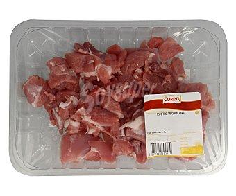 Coren Bandeja de pavo troceado en tacos 350 gramos aproximados