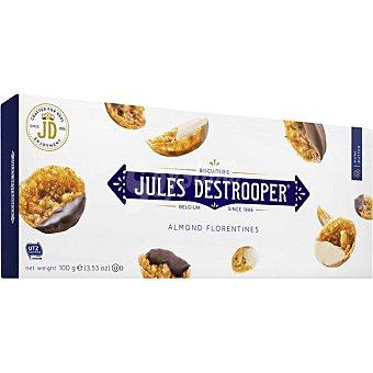 Jules destrooper Florentinas de almendras recubiertas de chocolate Estuche 100 g