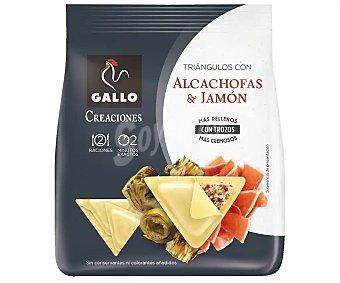 Gallo creaciones Triángulos de pasta fresca rellenos de alcachofa con jamón 250 g
