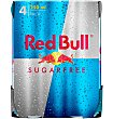 Bebida energética Sugar Free RED bull Pack 4 x 25 cl Red Bull