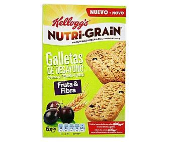 Nutri Grain Kellogg's Nutri Grain Galletas fruta y fibra 6 bolsitas con 4 unidades