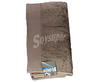 AUCHAN Toalla para baño de algodón egipcio, 630 gramos/m², color marrón, 100x150 centímetros 1 Unidad