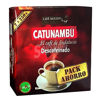 Catunambu Pack café molido descafeinado natural Pack de 2x250 g