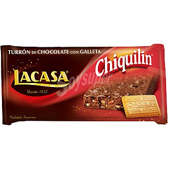 Chiquilín Artiach Lacasa turron chocolate y galleta Tableta 200 grs