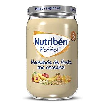 Nutribén Tarrito de macedonia de frutas con cereales , a partir de 6 meses 235 g