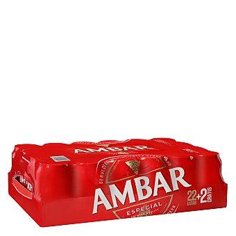 Ambar Cerveza Pack de 22 latas de 33 cl
