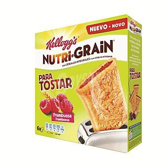 Nutri Grain Kellogg's Nutri Grain para tostar frambuesa 6 unidades - 240 gr