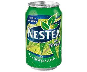 Nestea Refresco de té verde a la manzana bajo en calorías Lata 33 cl