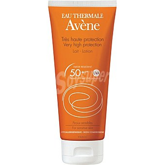 Avène leche solar SPF 50+ para pieles sensibles  tubo 100 ml
