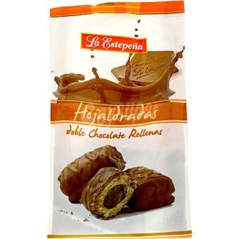 La Estepeña Hojaldradas doble chocolate rellenas Bolsa 310 g