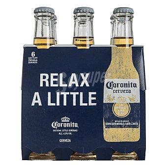 Coronita Cerveza corona Pack 6 botella x 21 cl