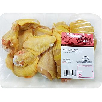 Pollo Amarillo Entero Troceado en Ocho Piezas - Peso Aproximado Bandeja 1,3 kg