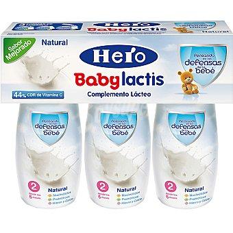 Hero Baby Leche Lactis Natural infantil desde los 6 meses Pack 3 envase 100 ml