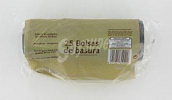 Productos Económicos Alcampo Bolsa de Basura Con Autocierre (30 L) 25 bolsas