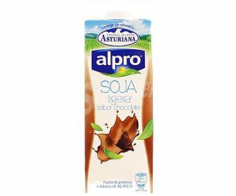 Alpro Asturiana Bebida de soja ligera sabor chocolate  envase 1 l
