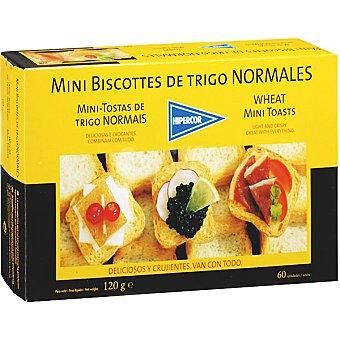 Hipercor Mini biscotes de trigo Estuche 120 g