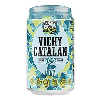 Vichy Catalán Agua mineral natural con Ginseng y Guaraná sabor menta 33 cl