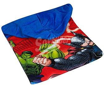 Marvel Toalla poncho infantil de playa con estampado diseño Los Vengadores, Avengers, Disney, 60x120 centímetros, tejido velour con densidad de 300 gramos/m² 1 unidad