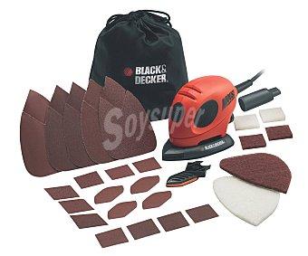 Black&Decker Lijadora del tipo mouse de 55 Watios con fijación de la hoja de lija mediante velcro 1 unidad