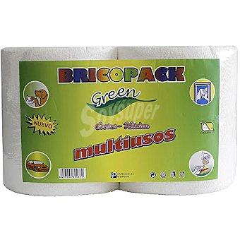 BRICOPACK Green Rollos de cocina miltiusos paquete 2 unidades Unidades