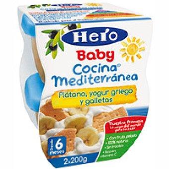 Hero Cocina mediterránea de frutas-yogur-galleta Pack 2x100 g