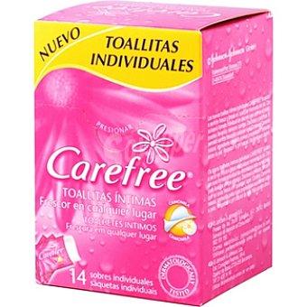 Carefree Toallitas íntimas individuales Caja 14 unidades