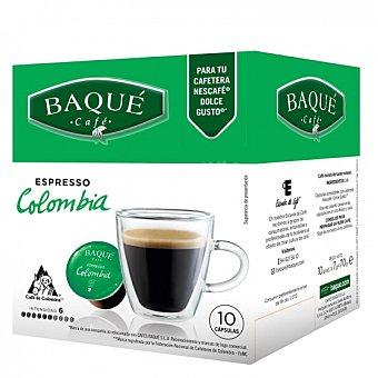 Dolce Gusto Nescafé Café espresso Colombia en cápsulas Baqué compatible con 10 unidades de 7 g
