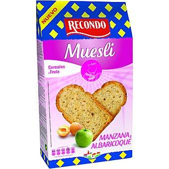 RECONDO Muesli pan tostado cereales manzana y albaricoque 30 rebanadas Paquete 270 g