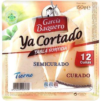 García Baquero Tabla surtida de queso semicurado + curado + tierno 12 cuñas Envase 150 g