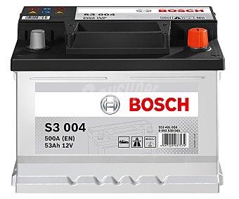 Bosch Batería de automóvil de 12v 53 Ah, con potencia de arranque de 500 Amperios 1 unidad