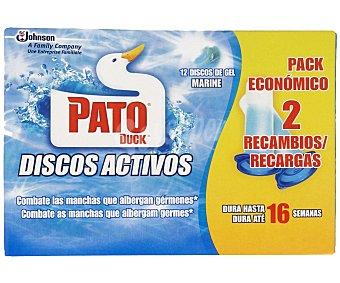 Pato Recambio Discos WC Activos Marine 2 Unidades x 36 Mililitros