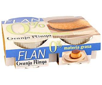 Romar Flan de huevo 0% materia grasa Pack 4 Unidades de 100 Gramos