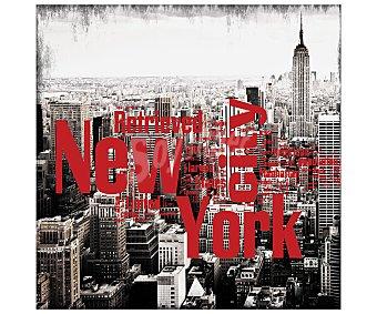 IMAGINE Cuadro con una imagen en blanco y negro de la ciudad de Nueva York y dimensiones de 28x28 centímetros 1 unidad
