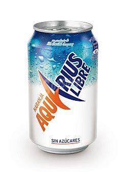 Aquarius Aquarius Libre Naranja Lata sin Azúcar Lata de 33 cl