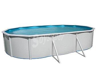 BESTWAY Piscina ovalada reforzada con estructura metálica, escalera y depuradora, 660x366x120 centímetros, 22077.4 litros 1 unidad
