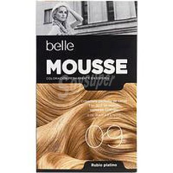 N.9 belle & PROFESSIONAL Tinte mousse rub. platino Pack 1 unid