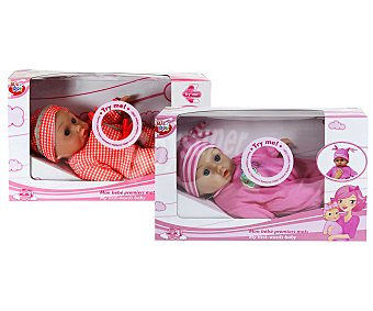 Rik&Rok Auchan Muñeco bebé Mis Primeras Palabras de 33 centímetros 1 unidad