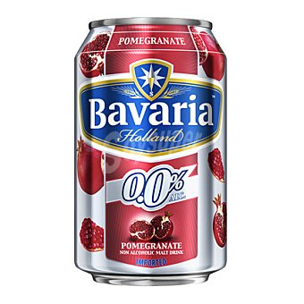 Bavaria Cerveza holandesa sin alcohol 0,0% con granada 33 cl