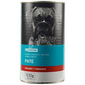 Eroski Alimento para perros con buey Lata 1,23 kg