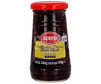 Serpis Aceitunas negras en rodajas frasco de 260 gramos